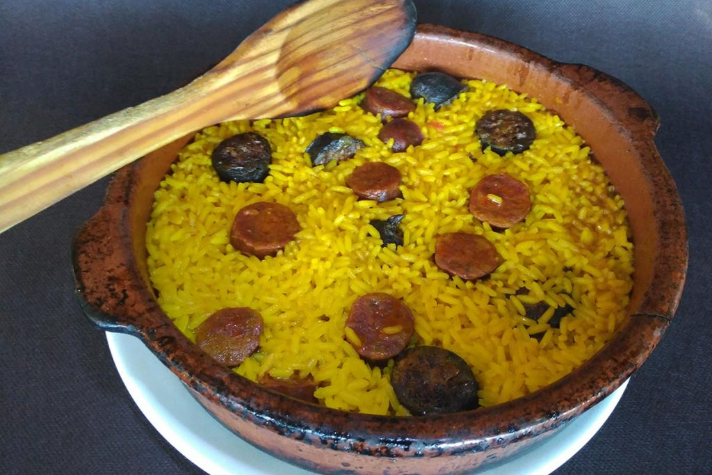 Arroz con Chorizo de León y morcilla