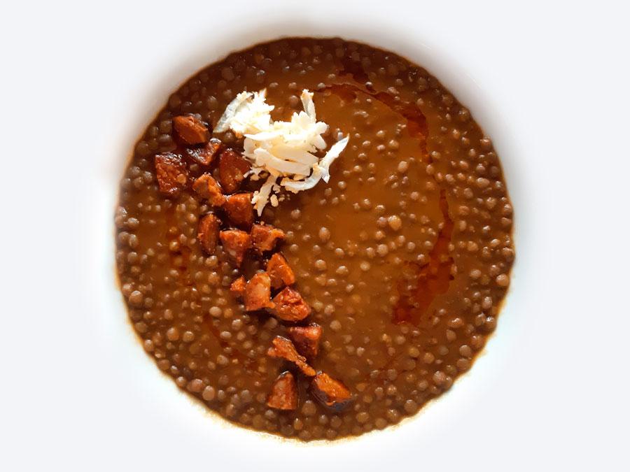 Lentejas con Chorizo de León
